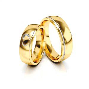 Obrączki ślubne złote 585 wzory z sercem z diamentami klasyczne cena tanie ile kosztują jubiler Śląsk Siemianowice Śląskie Piekary Ruda Śląska Bytom Chorzów